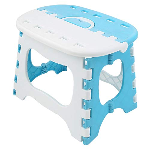 ZLY Folding Step Stool - The Lightweight Stool is Sturdy Enough to Support Adults and Safe Enough for Kids. Opens Easy with One Flip. Great for Kitchen, Bathroom, Bedroom ()