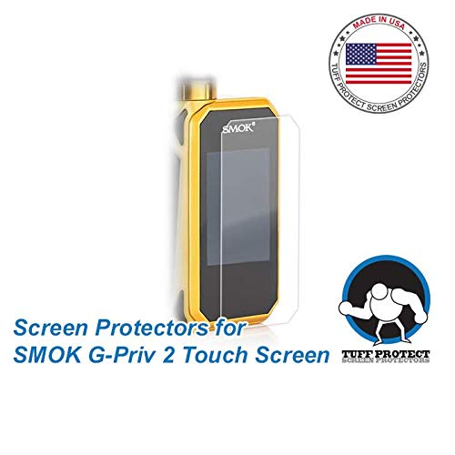 Tuff Protect Clear Screen Protectors for SMOK G-PRIV 2 Touch Screen, High Clarity, 3pcs (Best Touch Screen Vape Mod)