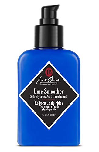 Jack Black - Line Smoother 8% Glycolic Acid Treatment, 3.3 fl oz - PureScience Formula, Fast-Acting, Smooths Skin, Helps Reduce Appearance of Wrinkles, Oil-Free Treatment, Helps Improves Skin Tone