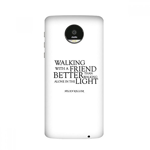 Quote About Friendship By Helen Keller Moto Z / Z Force / Z2 Magnetic Mods Custom-made Phonecase DIY Moto Style Shell (Keller Shell)