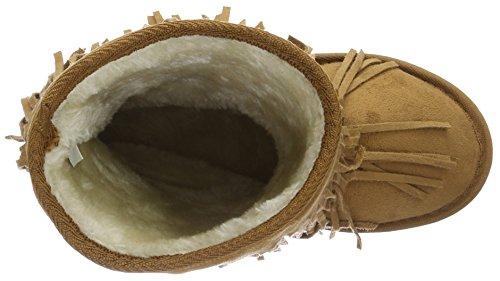 Canadians Damen Boots Schlupfstiefel Beige (400 BEIGE)