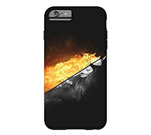 Fiery Charge iPhone 6 Plus Black Tough Phone Case - Design By Humans