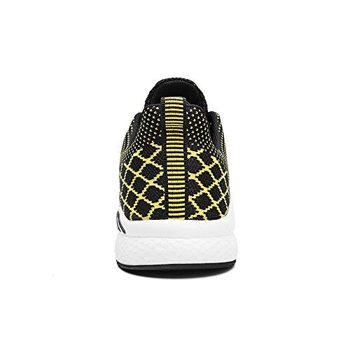 Sneakers Leggera Nero da Uomo Easondea Sportive Maglia Traspirante Paia Donna Calzature giallo Training Corsa Palestra Cross Camminata Scarpe BppOZ