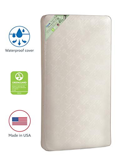"""Kolcraft Pure Sleep Therapeutic 150 Waterproof Toddler & Baby Crib Mattress - 150 Extra Firm Coils, 51.7"""" x 27.3"""""""