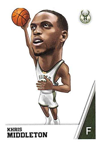 2018-19 Panini NBA Stickers #129 Khris Middleton Fathead Milwaukee Bucks NBA Basketball Sticker Trading Card