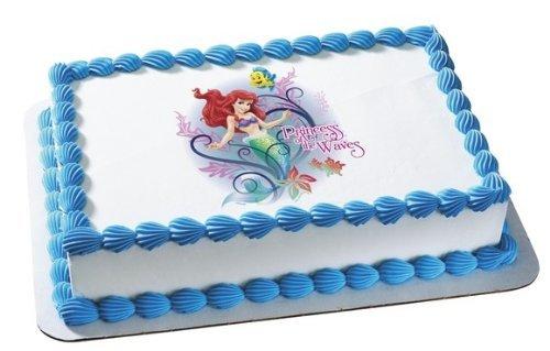 Pleasing Disney Princess Ariel Princess Of The Waves Edible Cake Topper Funny Birthday Cards Online Drosicarndamsfinfo