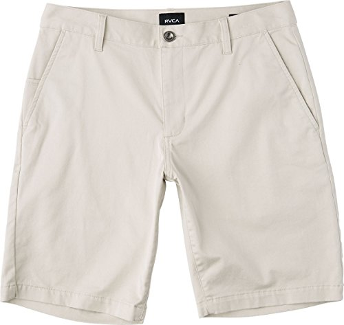 RVCA Men's Weekend Stretch Chino Short, Silver/Grey, 34 by RVCA