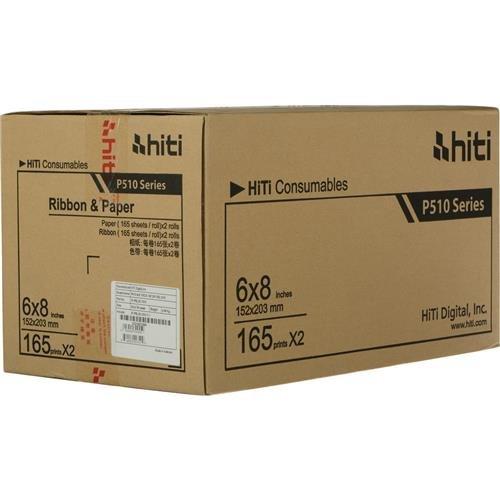 HiTi P510 6x8 リボン&ペーパーケース、合計330枚の6x8インチプリント   B00KFW2UZG