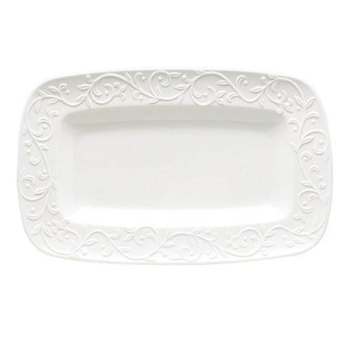 Lenox Opal Innocence Carved Hors D'oeuvres Tray ()