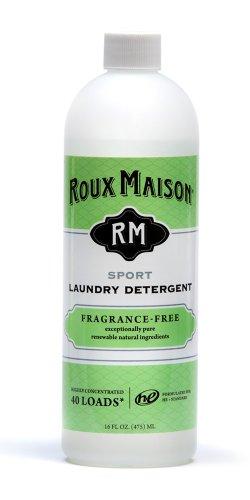 Roux Maison Sport Laundry Detergent - Odor Eliminator HE Detergent, All Natural Laundry Detergent, Up to 40 Machine Wash Loads - Fragrance Free 16oz.