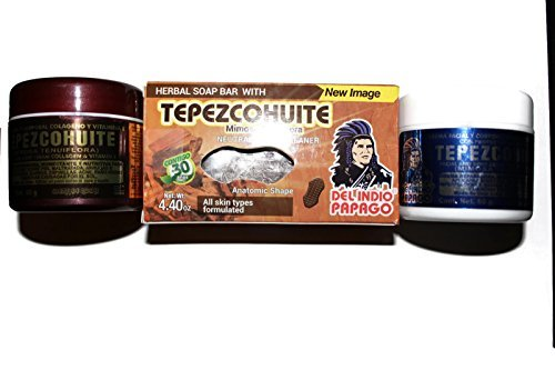 Set of 2 Tepezcohuite Creams and 1 Bar soap El Indio Papago by - Online India Shopping Sale