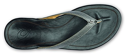 Olukai Hiona Slipper - Donna In Peltro / Nero