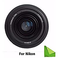 YONGNUO YN35mm F2 lens Wide-angle Large Aperture Fixed Auto Focus Lens For Nikon With EACHSHOT Cleaning Cloth