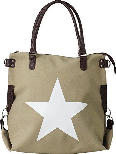 Bags4Less F3151 - Bolso de hombro Mujer Taupe de terciopelo
