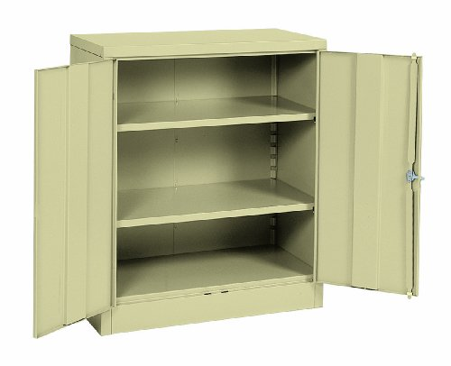 Sandusky Lee RTA7001-07 Putty Steel SnapIt Counter Height Cabinet, 2 Adjustable Shelves, 42'' Height x 36'' Width x 18'' Depth by Sandusky