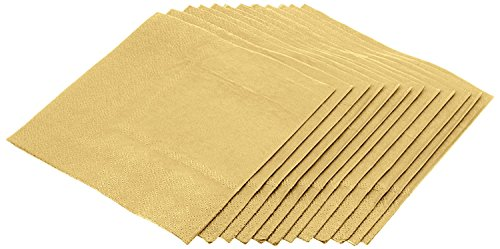 Jubilee 3-Ply Cocktail Beverage Napkins, 80 count, Gold (Gold Napkins Cocktail)