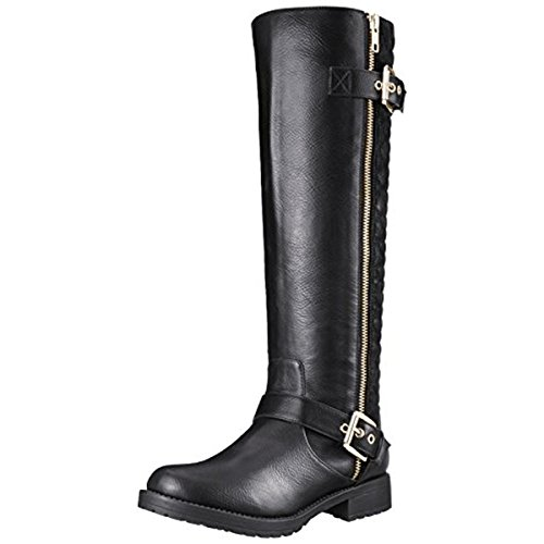 Black Motorcycle Riding Boots - 7