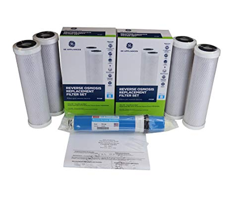 (Bonus Pack, 2 of Genuine GE FX12P Replacement Filters + Bonus USM TFC-24 RO Membrane Similar to FX12M Special Combo Deal for GE GXRM10RBL RO Systems)