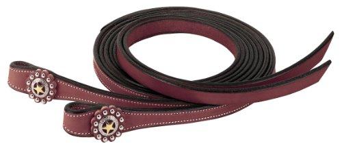 - Weaver Leather Texas Star Split Rein, 5/8-Inch x 8-Feet, Chestnut