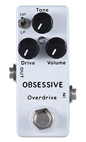 Mosky Mini Obsessive Overdrive Effect Pedal with True Bypass Switch