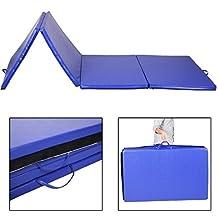 Goplus Blue 4'x10'x2 Portable Folding Panel Gymnastics Tumbling Martial Arts Exercise Stretching Yoga Gym Fitness Folding Mat by Goplus