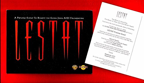 "Preview Event ""LESTAT"" Elton John AIDS Foundation 2006 Invitation Postcard"