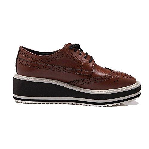 shoes Kitten Brown Solid Lace Da heels Donna A up Punta Pumps Chiusura Pu Voguezone009 Tinta Unita w6qCZ5qS
