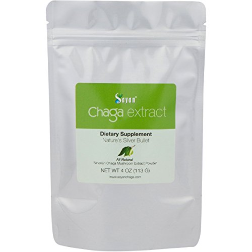 Sayan Siberian Wild Forest Chaga Mushroom Extract Powder 4 Oz (113g) – Premium Antioxidant Booster Tea for Healthy Digestion - All Natural Anti-Inflammatory + Immune System Health Support