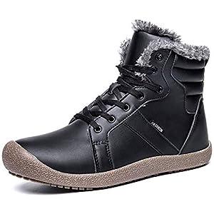 JIASUQI Outdoor Winter Ankle Warm Fur Snow Boots for Women Men