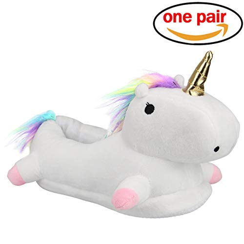 8737c44251 Ndier Pantuflas 3D Unicornio para niñas y Mujeres Pantuflas Antideslizantes  Suaves y esponjosas - Talla única (EUR35-42)  Amazon.es  Zapatos y  complementos