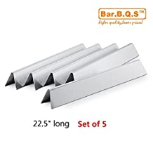 Bar.B.Q.S Stainless Steel Burner Tube Set & Flavorizer Bars Replacement Parts for Weber Genesis Silver B and C, Spirit 700 and Genesis Gold gas grills (Heat Plate)