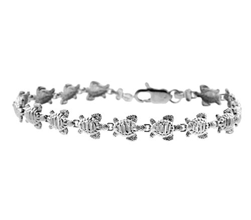Petits Merveilles D'amour - 10 ct Or Blanc Bracelet - Tortue Bracelet