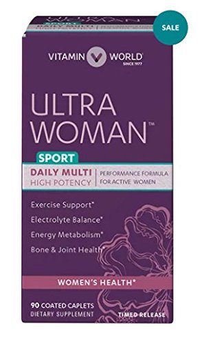 Vitamin World Ultra Woman™ Sport Daily Multivitamins, Performance Formula For Active Women 90 coated