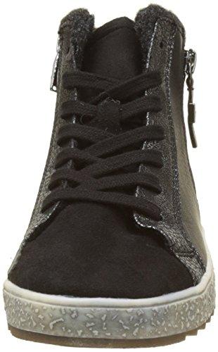TOM TAILOR Damen 3790505 Hohe Sneaker Noir (Black)