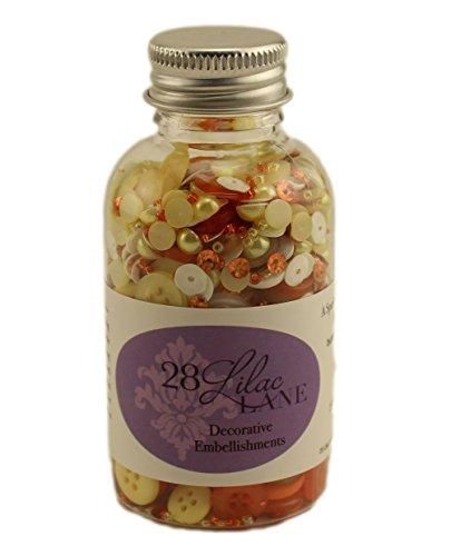 Corn Scrapbook - Buttons Galore Candy Corn Scrapbook Embellishment Bottle