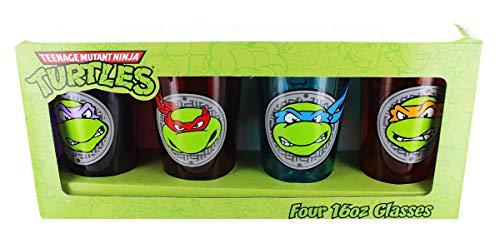Teenage Mutant Ninja Turtle Face Pint Glass Set Of 4]()