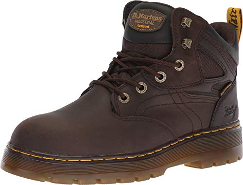 Dr. Martens Work Men's Plenum WP ST 6-Tie Boot Dark Brown 8 D UK Dr Martens 8 Tie