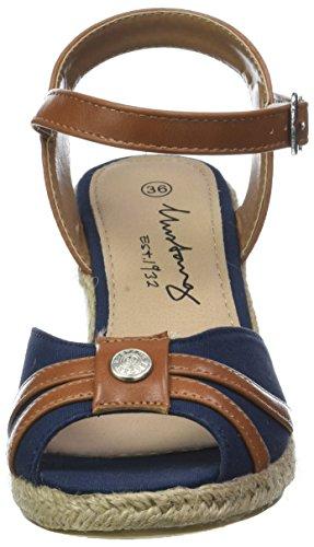 Femme 1248 Bout Ouvert 800 Bleu Mustang Sandales Dunkelblau 801 1zdqvxwY