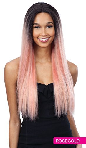 - FreeTress Equal Synthetic Hair Lace Front Wig Premium Delux Evlyn (ROSE GOLD)