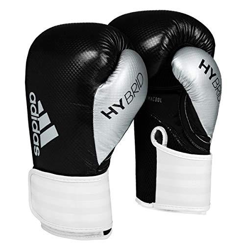 adidas Hybrid 65 Boxing Gloves, Black/White, 14 oz