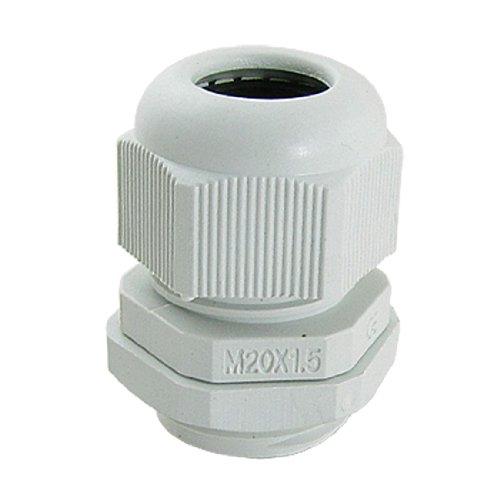 10 Pcs White Plastic Waterproof Cable Glands M20 x 1.5