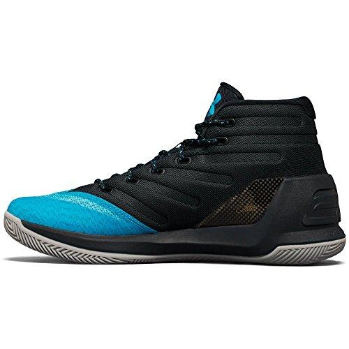 Under Armour Mens Curry 3 Basketbalschoen Eiland Blauw / Blauw Drift / Steel