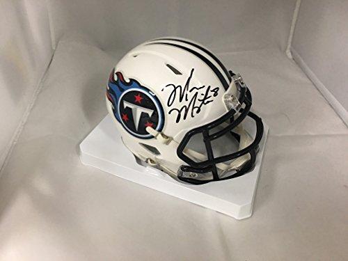 Tennessee Titans Mini Helmet (Marcus Mariota Signed Autographed Tennessee Titans Speed Mini Helmet GTSM Hologram)