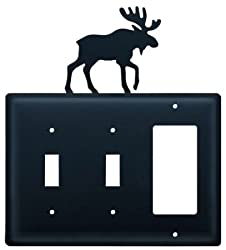 Village Wrought Iron Essg-19 Switch Cover Triple - Moose