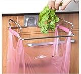 Stainless Steel Kitchen Cupboard Drawer Door Waste Bin Stand Scrap Trap Bowl Dustbin Hanging Rack by shopidea