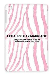 Anti-drop MEN0002 Jokes Marriage Hilarious Funny Misery Gay Funny TPU Cover Case For Ipad Mini Black