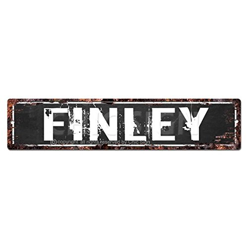 Finley Man Cave Street Sign Tin Chic rústico calle Placa ...