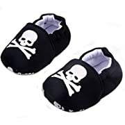 ELee Baby Toddler Cartoon Animal Soft-sole Non Slip House Slipper Shoes Socks First Walkers (6-9M, #8 Skull)