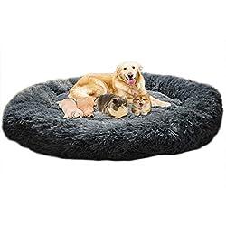 Dochen Puppy Love Hundebett, Anti-Stress, XXXL, waschbar, Hundekissen, XL, weich, orthopädisch, rund, beruhigend…