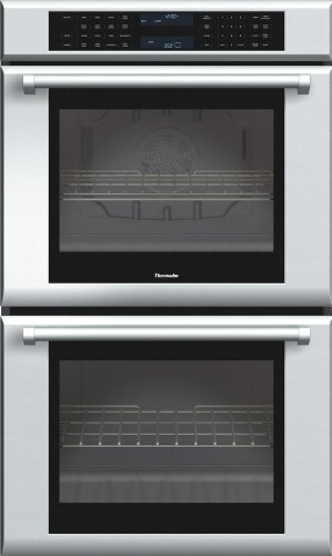 Thermador MED302JP Double Masterpiece Oven, True Convection Upper plus Lower, 30 in. 3Xt Racks, Pro Handle